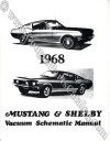 Manual - Vacuum Schematic - w/ Cougar Headlight Schematic - Repro ~ 1968 Mercury Cougar / 1968 Ford Mustang / Shelby