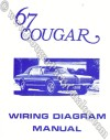 Manual - Wiring Diagram - Repro ~ 1967 Mercury Cougar