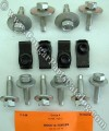 Hood Hinge Bolt & Nut Kit - Repro ~ 1969 - 1970 Mercury Cougar - 1969 - 1970 Ford Mustang